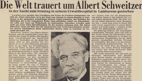 albert schweitzer 1875 1965 letzter hinweis in eigener sache - Albert Schweitzer Lebenslauf
