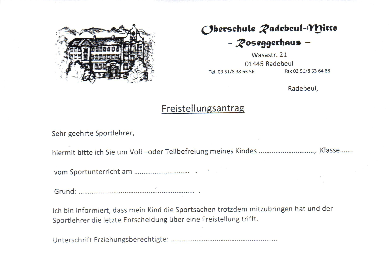 Attractive Antrag Auf Freistellung Formular Picture Collection ...