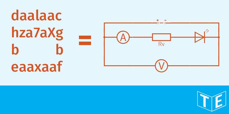 Eine elektrische Schaltung schreiben |