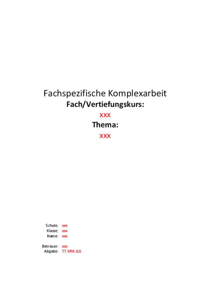 zum download pdf doppelt anklicken - Facharbeit Muster